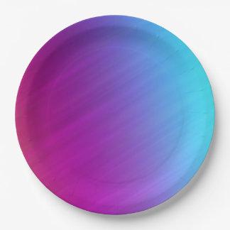 Assiettes En Papier Plaques à papier colorées par arc-en-ciel lumineux