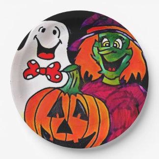 Assiettes En Papier Plaques à papier d'amis de Halloween