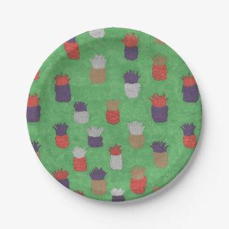 Assiettes En Papier Plaques à papier d'ananas tropical d'amusement