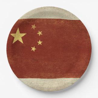 Assiettes En Papier Plaques à papier de drapeau de la Chine