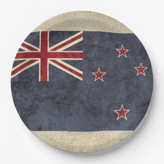 Assiettes En Papier Plaques à papier de drapeau de la Nouvelle Zélande
