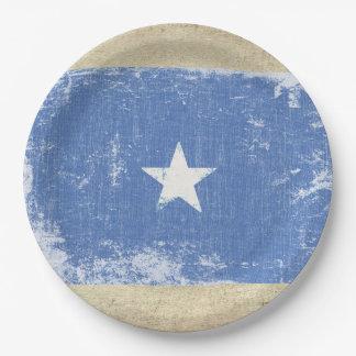 Assiettes En Papier Plaques à papier de drapeau de la Somalie