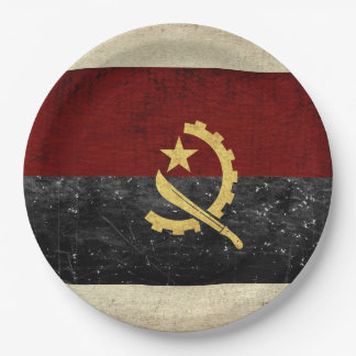 Assiettes En Papier Plaques à papier de drapeau de l'Angola