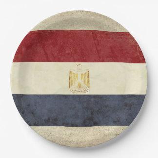 Assiettes En Papier Plaques à papier de drapeau de l'Egypte
