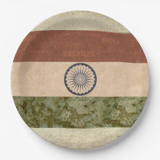 Assiettes En Papier Plaques à papier de drapeau de l'Inde