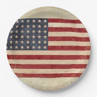 Assiettes En Papier Plaques à papier de drapeau des Etats-Unis