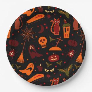 Assiettes En Papier Plaques à papier de Halloween