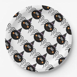 Assiettes En Papier Plaques à papier de Halloween/araignée mignonne