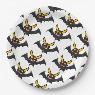 Assiettes En Papier Plaques à papier de Halloween/battes