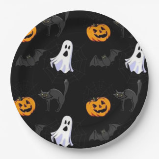 Assiettes En Papier Plaques à papier de Halloween/fantôme, citrouilles
