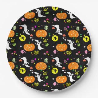 Assiettes En Papier Plaques à papier de Halloween/sorcière, fantôme,