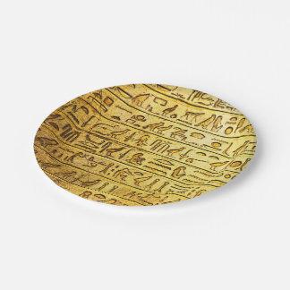 Assiettes En Papier Plaques à papier de jaune égyptien antique