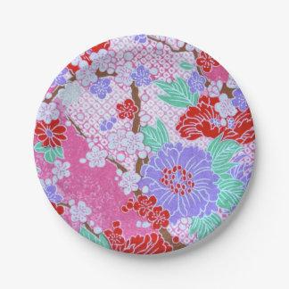 Assiettes En Papier Plaques à papier de motif de Sakura de Japonais