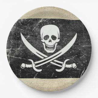 Assiettes En Papier Plaques à papier de Neverland de drapeau de pirate