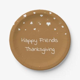 Assiettes En Papier Plaques à papier de thanksgiving d'amis
