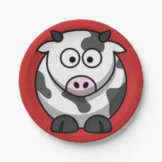 Assiettes En Papier Plaques à papier de vache à bande dessinée