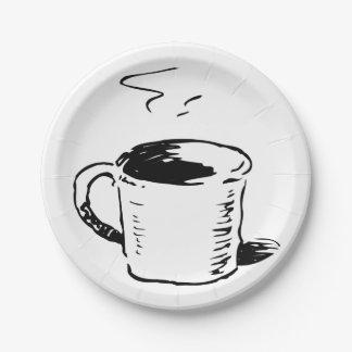 Assiettes En Papier Plaques à papier d'illustration de tasse de café