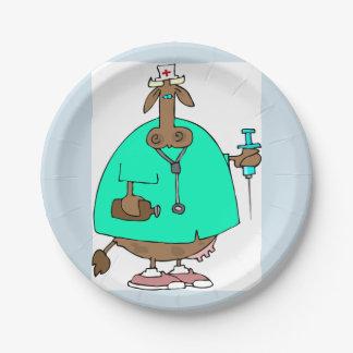 Assiettes En Papier Plaques à papier d'infirmière de vache