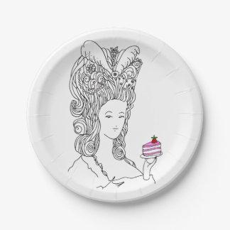 Assiettes En Papier Plat de Marie Antoinette