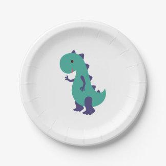 Assiettes En Papier Plat mignon de Dino