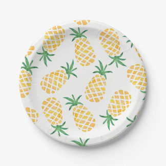 Assiettes En Papier Plat pour aquarelle de partie d'ananas