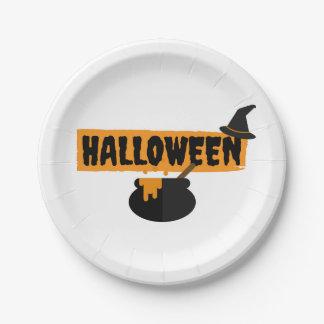 Assiettes En Papier Plats de papier de partie de Halloween