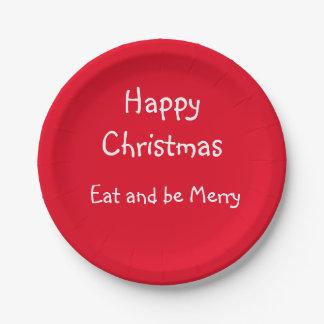Assiettes En Papier Plats de papier de partie de Noël