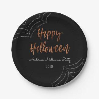 Assiettes En Papier Plats modernes de Halloween de partie heureuse de