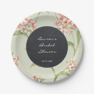 Assiettes En Papier plats nuptiales de douche d'hortensia botanique