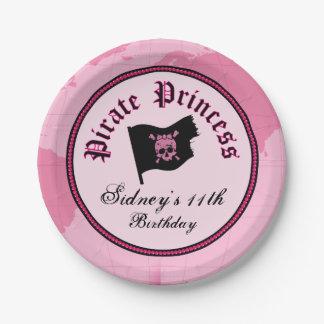 Assiettes En Papier Princesse rose Party de pirate