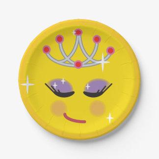 Assiettes En Papier Princesse scintillante Emoji