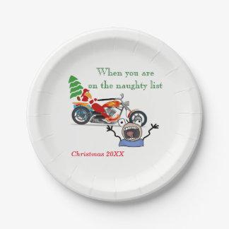 Assiettes En Papier Quand vous êtes sur Père Noël vilain énumérez