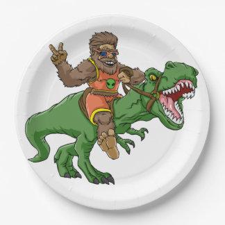 Assiettes En Papier rex Bigfoot de rex-T de la Bigfoot-bande dessinée