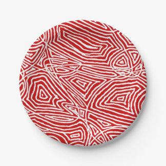 Assiettes En Papier Rouge de Scribbleprints