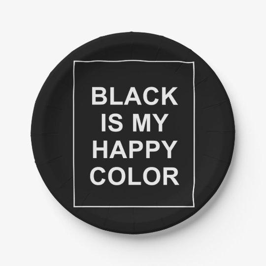 ASSIETTES EN PAPIER SKAM - BLACK IS MY HAPPY COLOR