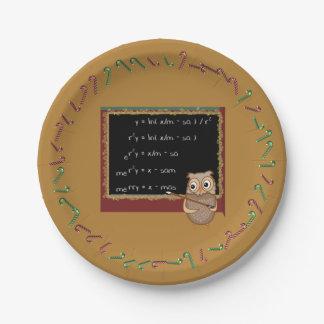 Assiettes En Papier Souhait de Noël de mathématiques