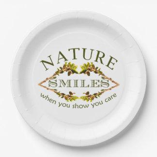 Assiettes En Papier Sourires de nature