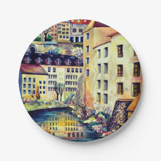Assiettes En Papier Stockholm - Gamla Stan, vieille ville, Suède