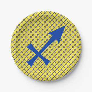 Assiettes En Papier Symbole de Sagittaire