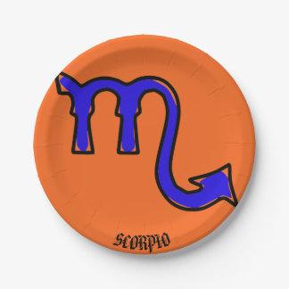 Assiettes En Papier Symbole de Scorpion