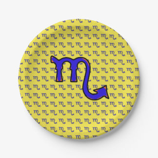 Assiettes En Papier Symbole t de Scorpion