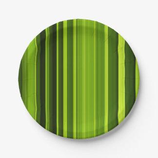 Assiettes En Papier Texture de feuille de palmier