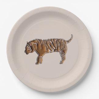 Assiettes En Papier Tigre chinois de pain d'épice de zodiaque