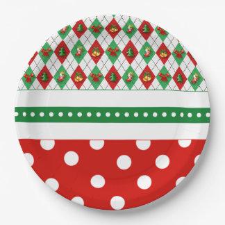 Assiettes En Papier Tis les plaques à papier de fête de Noël de saison