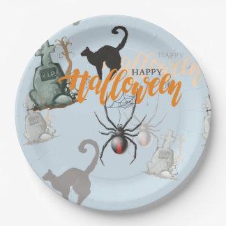 Assiettes En Papier Tombe d'araignée de Halloween