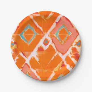 Assiettes En Papier Tribal orange II