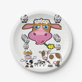 Assiettes En Papier Vaches à plaques à papier