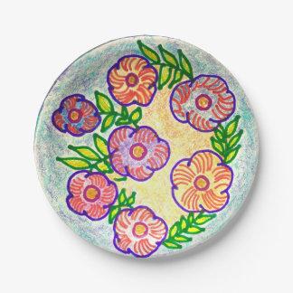 Assiettes En Papier Vigne de fleur sauvage