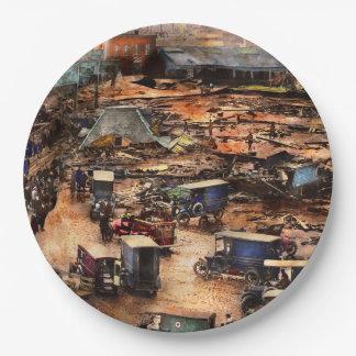 Assiettes En Papier Ville - Boston mA - la grande inondation 1919 de