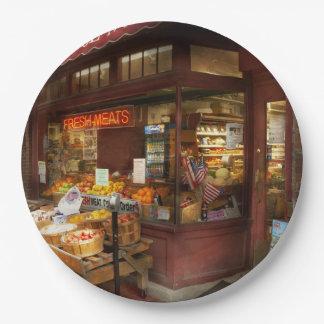 Assiettes En Papier Ville - Boston mA - viandes fraîches et fruit